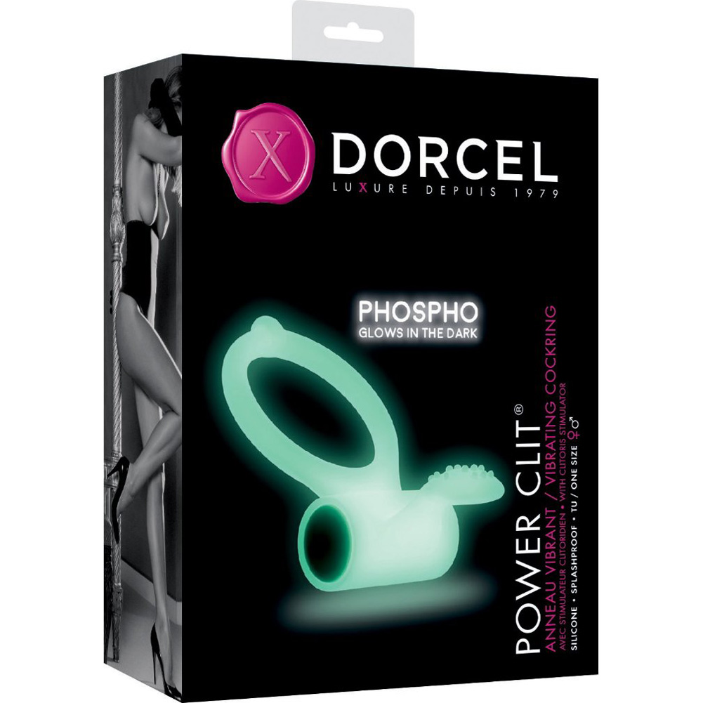 Dorcel Power Clit Phospho Cock Ring Glow in the Dark - View #1
