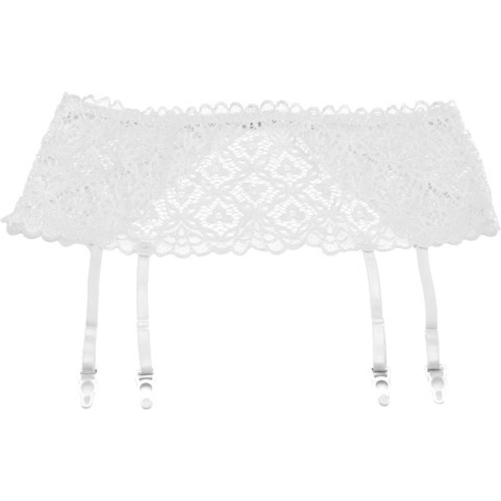 "Stretch Lace 5"" Band Garter White Small Medium - View #1"