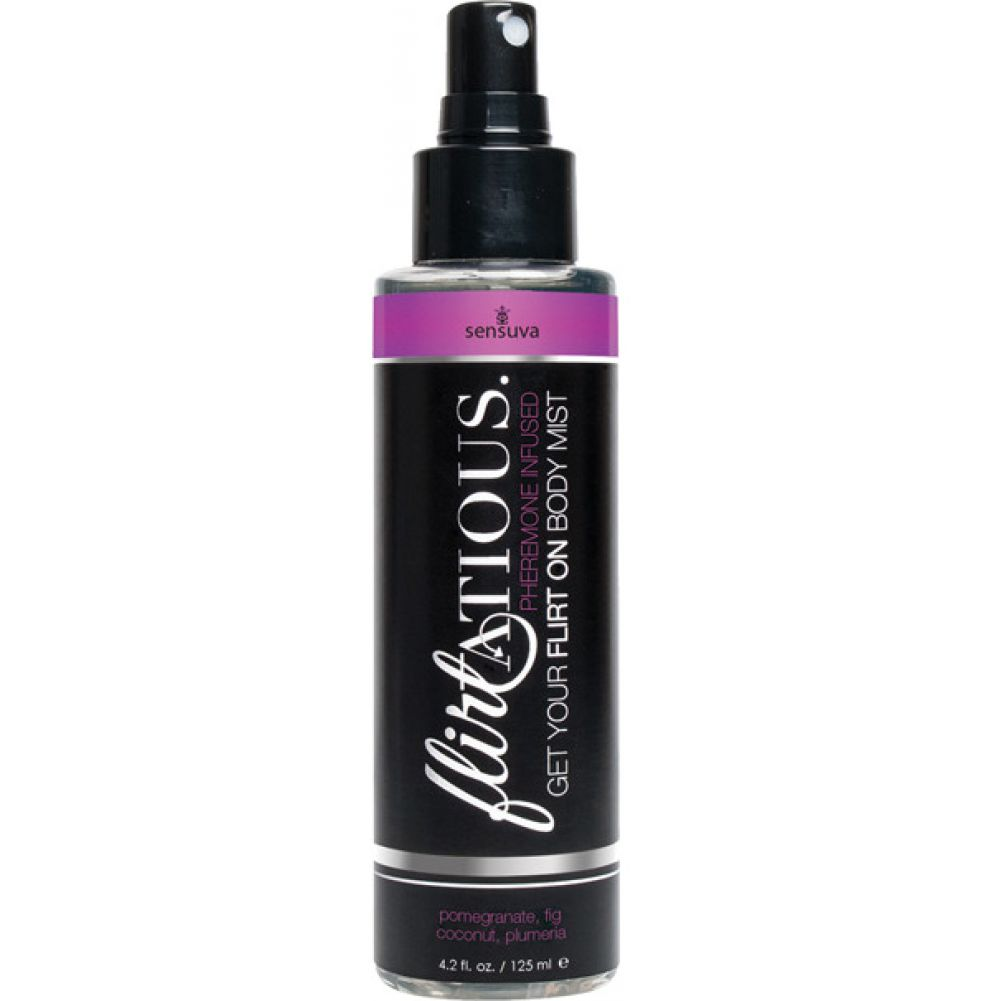 Flirtatious Pheremone Infused Body Mist Pomegranate Fig Coconut and Plumeria 4.2 Oz Spray - View #1