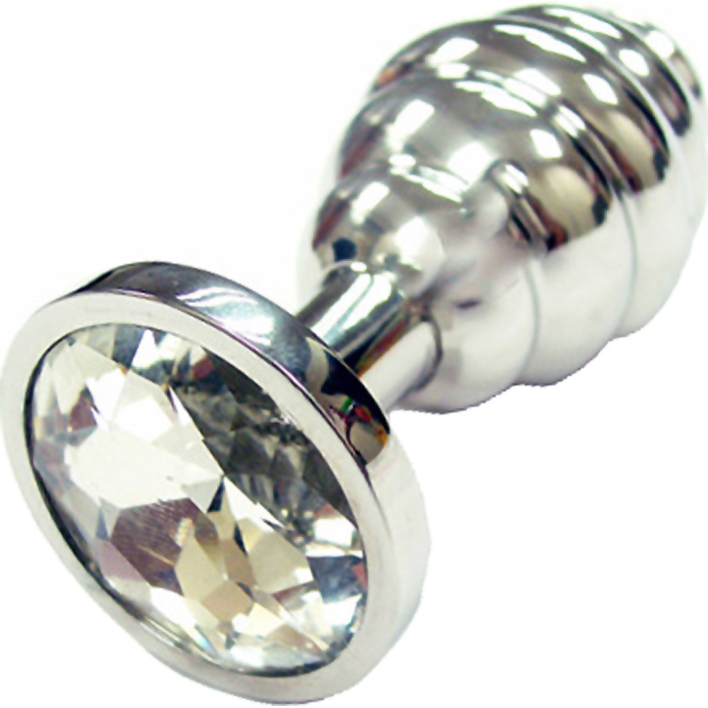 Rogue Stainless Steel Threaded Butt Plug Medium Silver - View #2