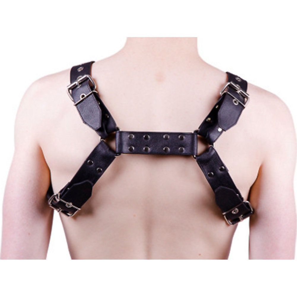 Rouge Over the Head Harness Extra Large Black - View #1