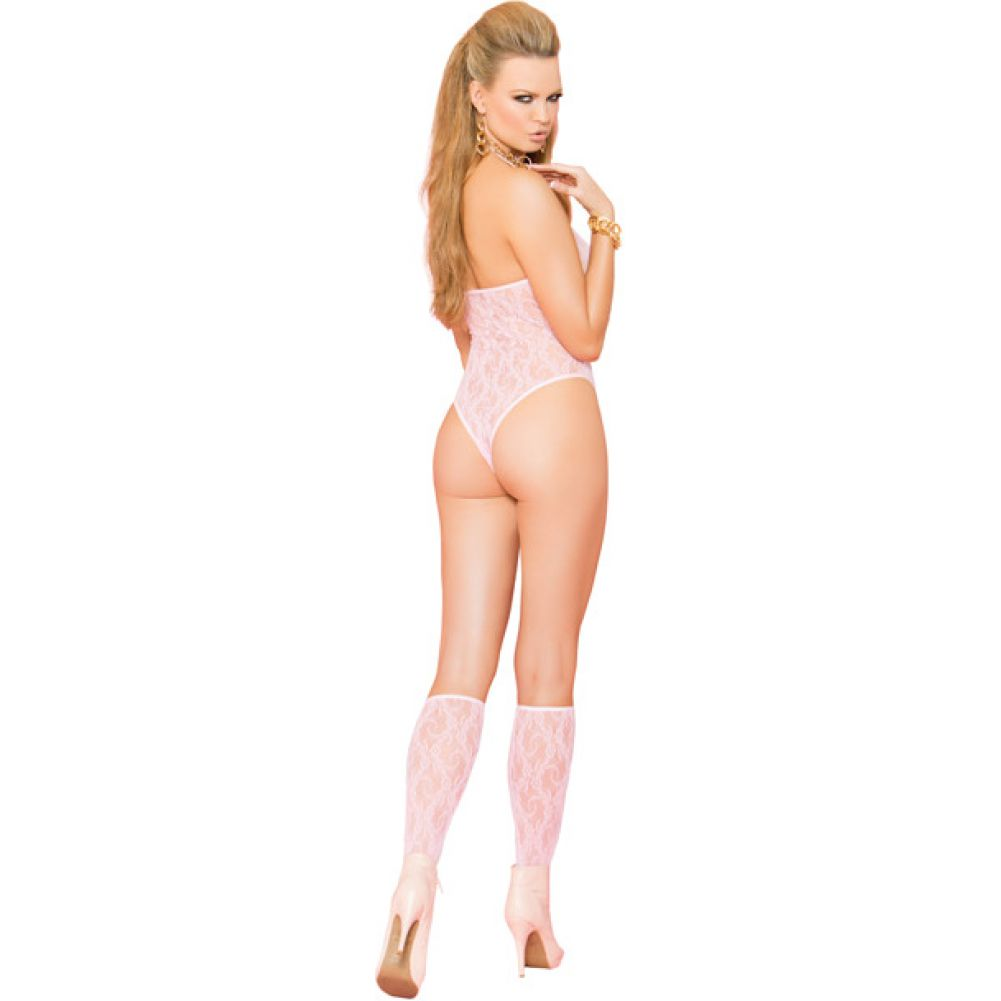 Vivace Lace Teddy and Stockings Baby Pink One Size - View #2