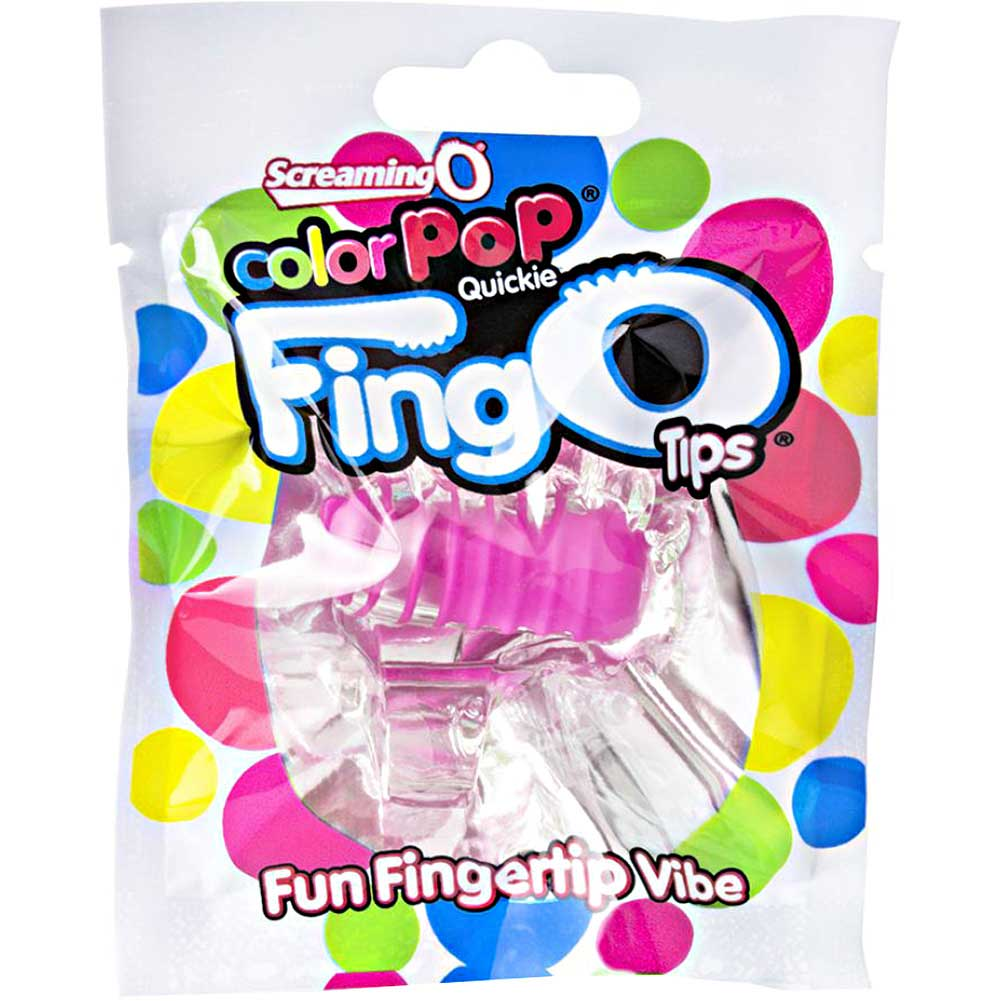 Screaming O Color Pop Fingo Tip Vibrator Pink - View #1