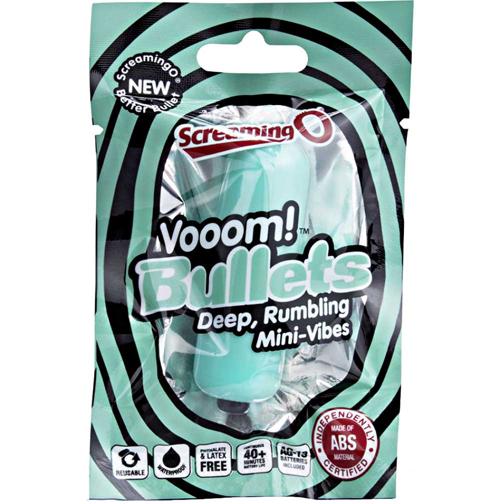 "Screaming O Vooom Bullets Deep Rumbling Mini Vibe 3"" Kiwi Mint - View #1"