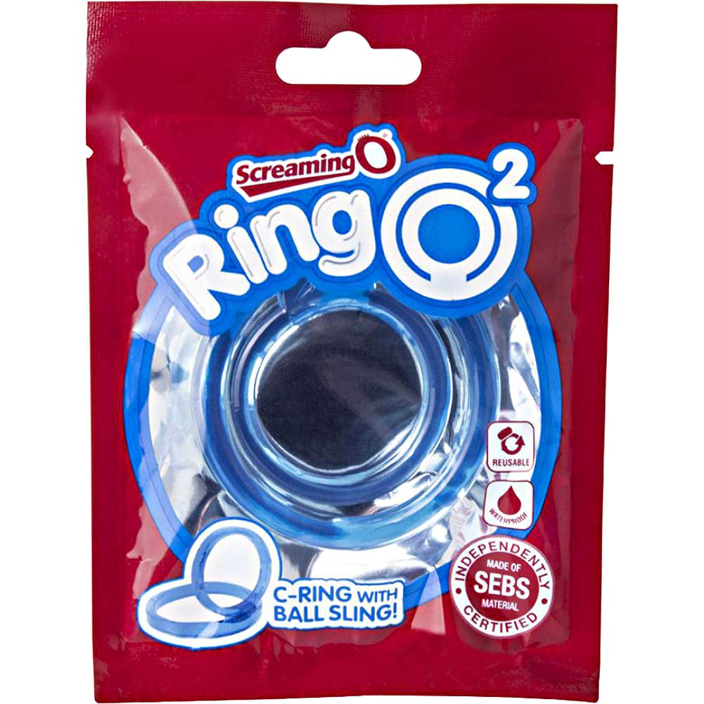 Screaming O Ringo 2 Double Cock Ring One Size Blue - View #1