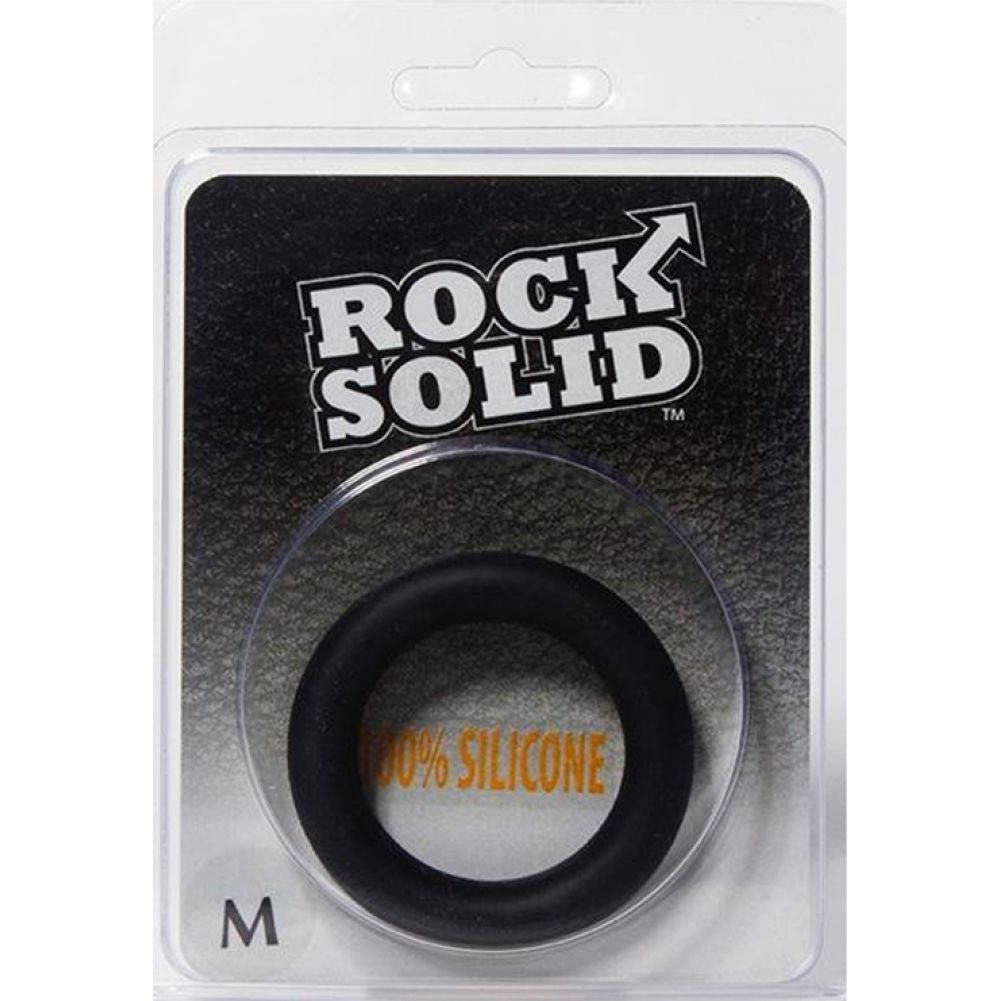 Rock Solid Silicone Gasket C-Ring Medium Black - View #1