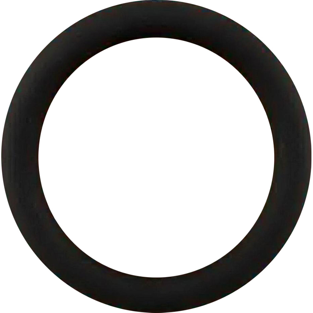 Malesation Silicone Cock Ring Large Black - View #2