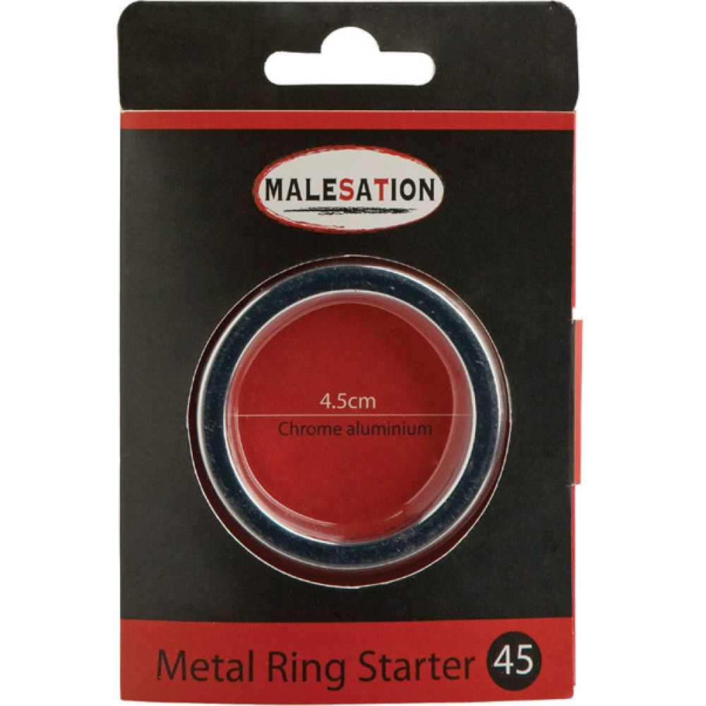 Malesation Metal Starter Ring 45 Mm Silver - View #1