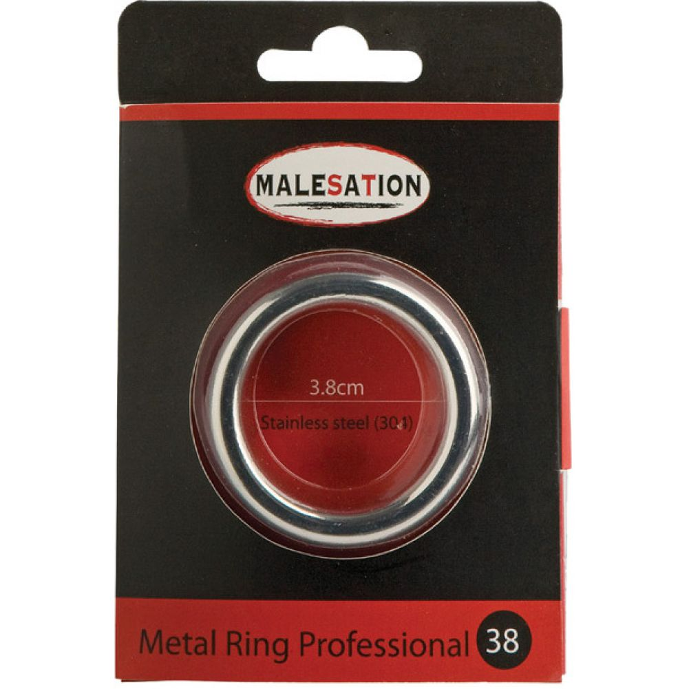 Malestation Metal Professional Cock Ring 38mm Silver - View #1