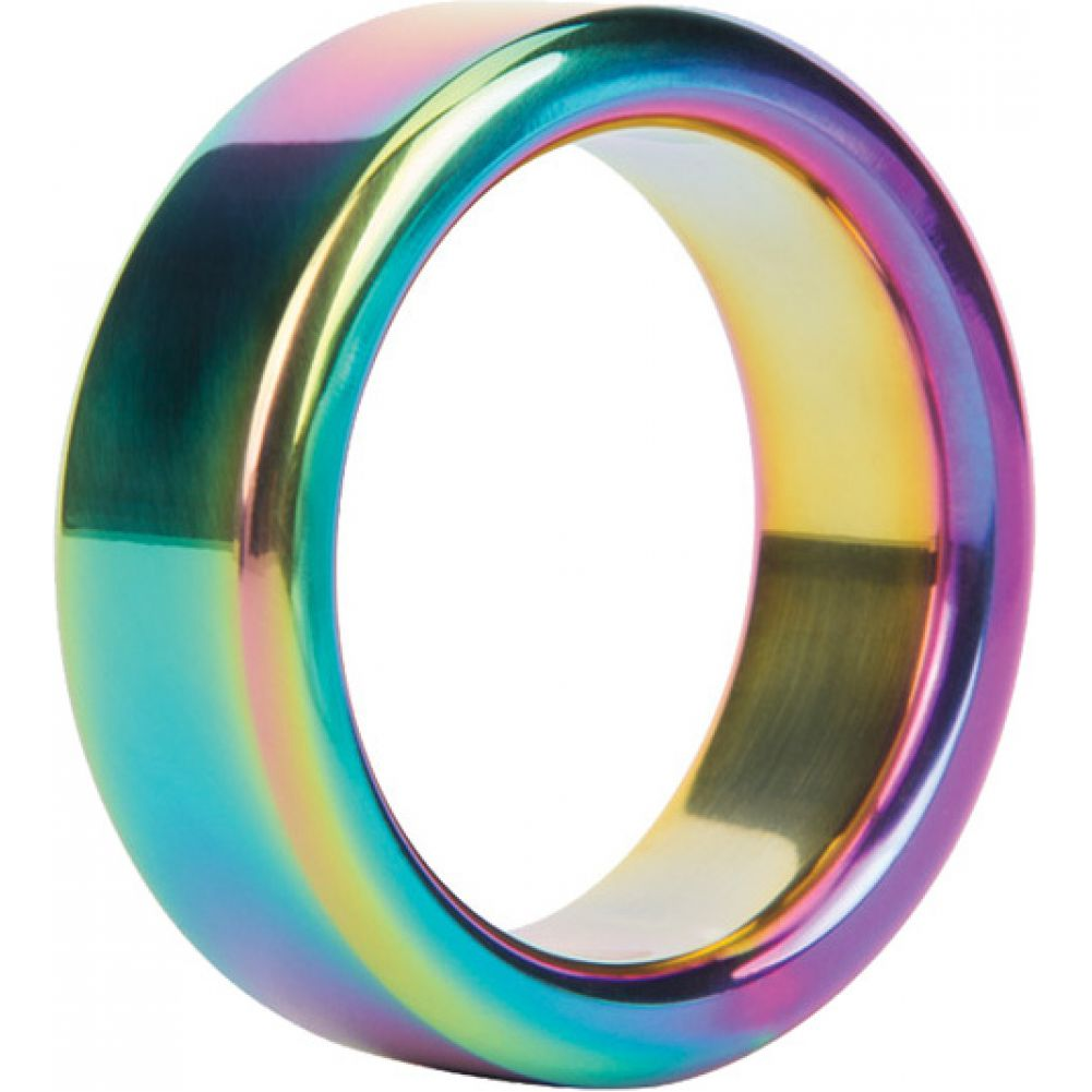 Malesation Nickel Free Stainless Steel Rainbow Cock Ring 38 Mm - View #2