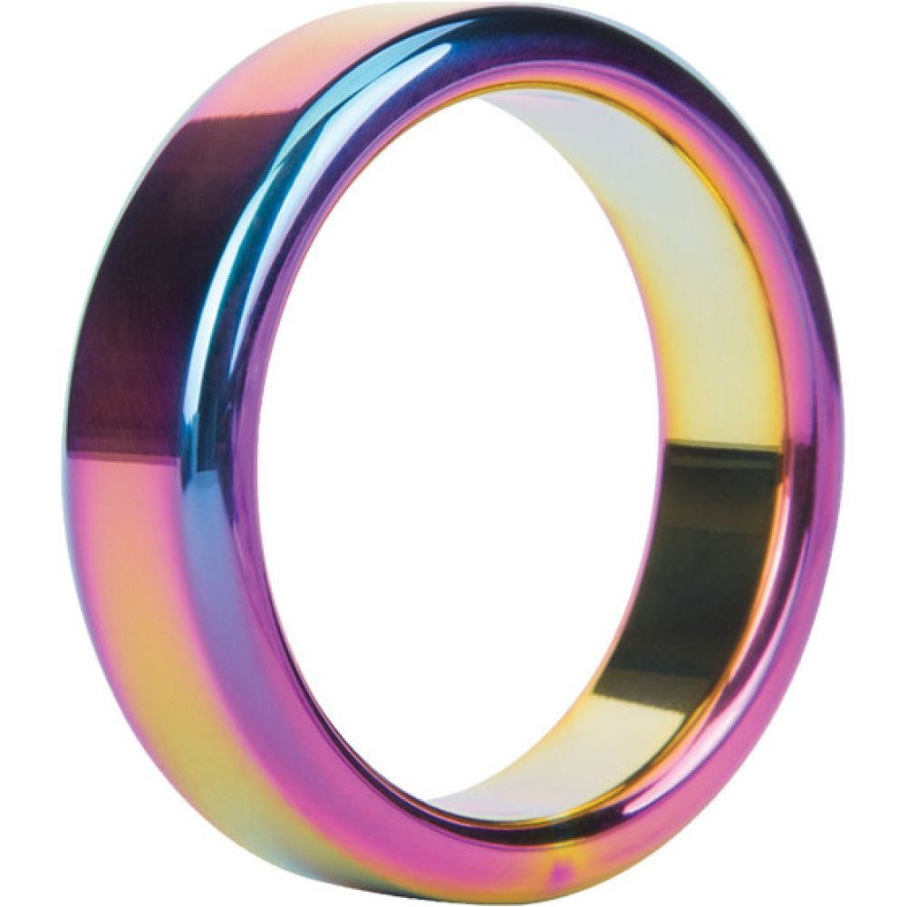 Malesation Nickel Free Stainless Steel Rainbow Cock Ring 48 Mm - View #2