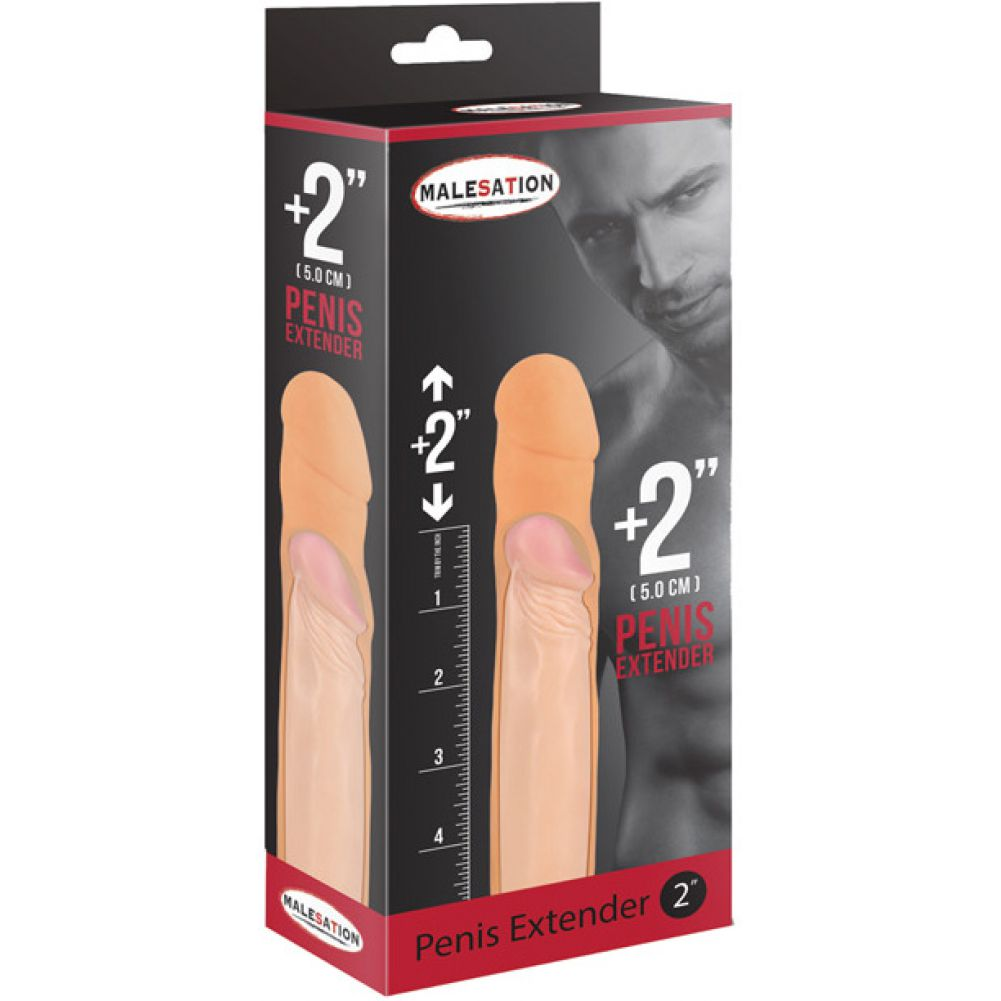 "Malesation 2"" Penis Extender Sheath Flesh - View #1"