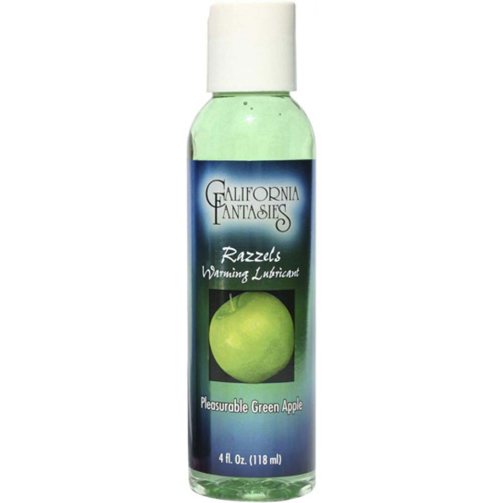 Razzels Warming Intimate Lubricant 4 Fl.Oz 120 mL Pleasurable Green Apple - View #1