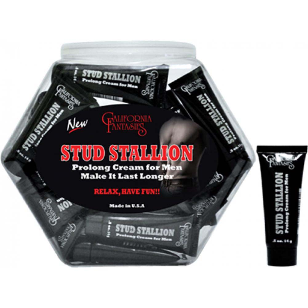 Stud Stallion Prolong Cream for Men Fishbowl of 36 Tubes 0.5 Oz Tube Each - View #1
