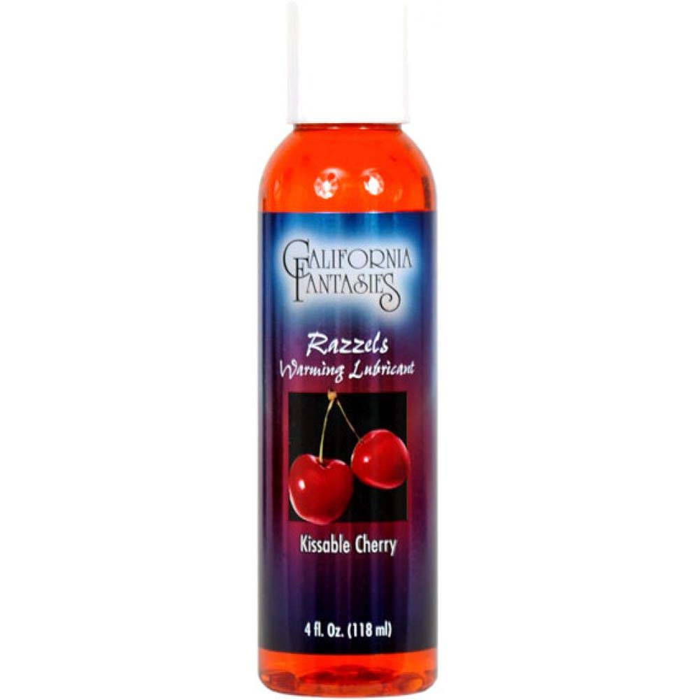California Fantasies Razzels Warming Intimate Lubricant 4 Fl.Oz 120 mL Kissable Cherry - View #1