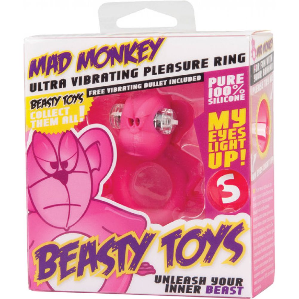 Shots S Line Mad Monkey Cock Ring Pink - View #1