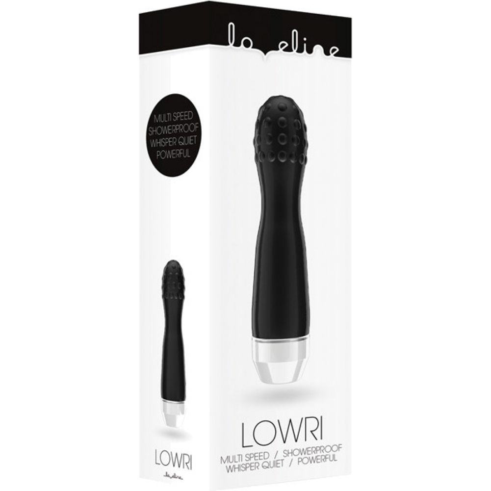 "Shots Love Line Lowri Vibrator 7"" Black - View #1"