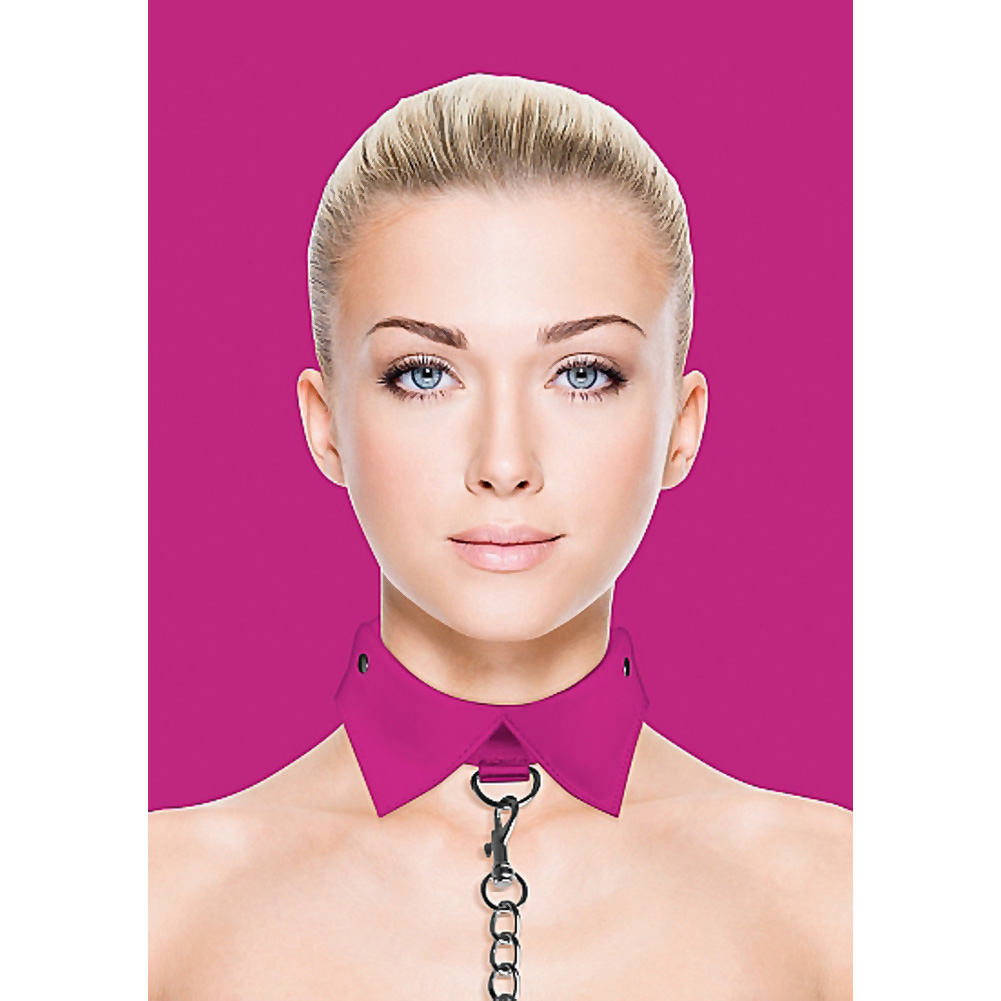 Ouch Exclusive Collar and Leash Pink - View #1