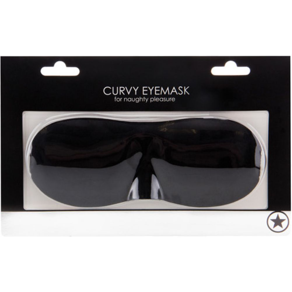 Ouch Curvy Eye Mask for Lovers Black - View #1