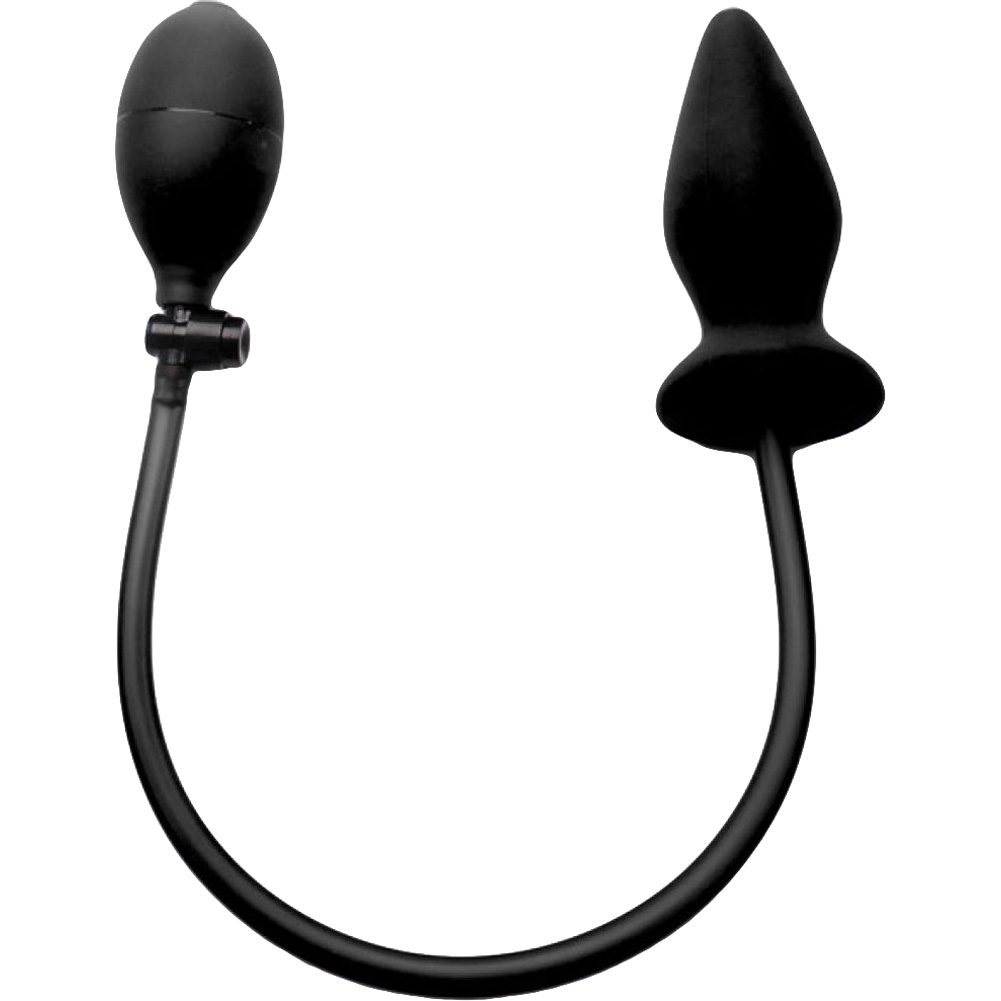 Ouch Inflatable Silicone Butt Plug Black - View #2
