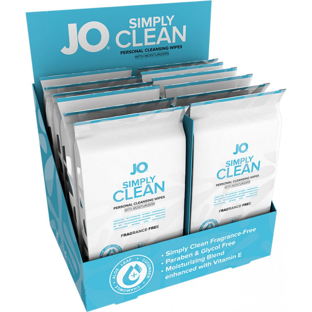 System Jo Personal Wipes Refresh 12 Piece Display - View #1
