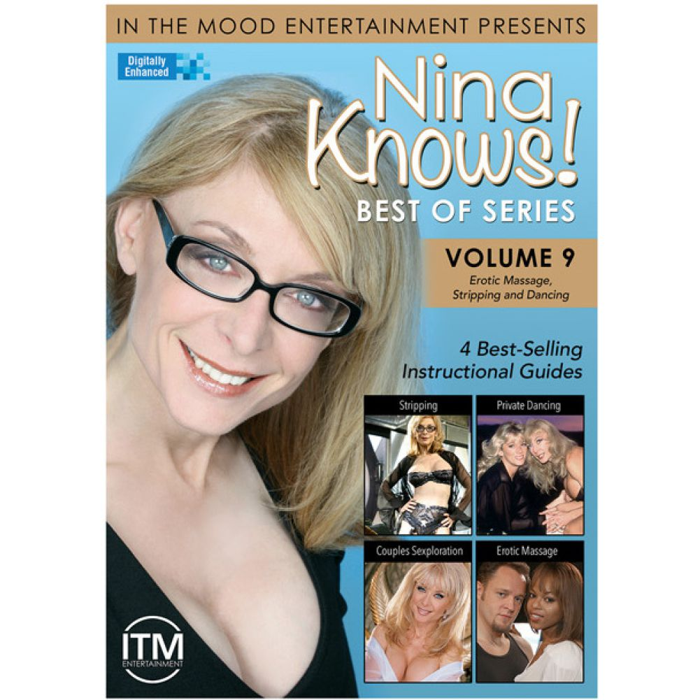 Nina Knows Best of Series Volume 9 Erotic Massage Stripping Dancing DVD - View #1
