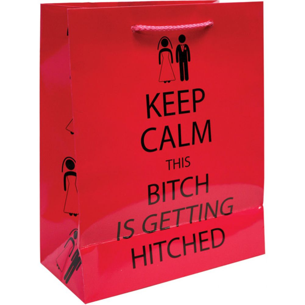 Kalan Keep Calm This Bitch Is Getting Hitched Gift Bag - View #1