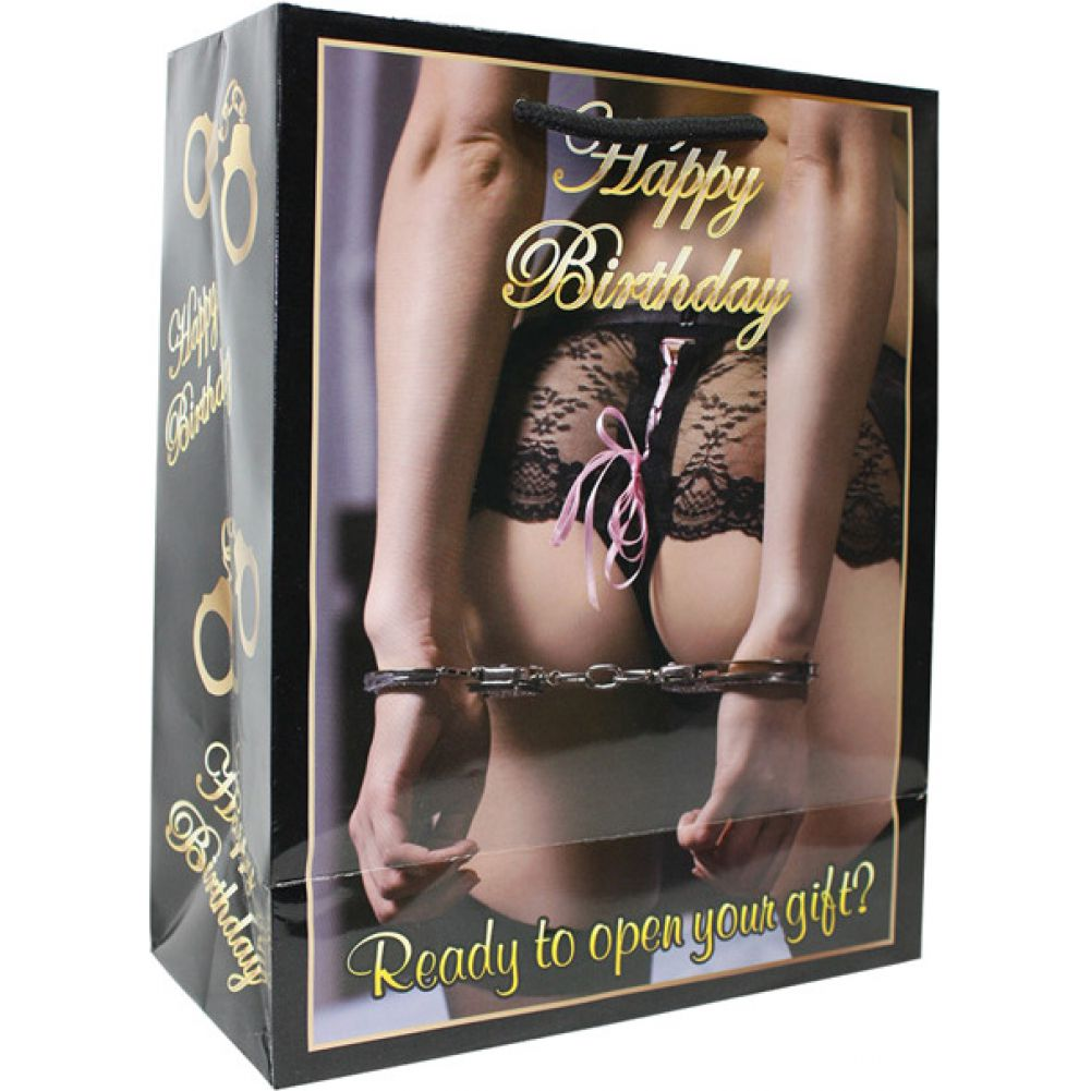 Kalan Happy Birthday Women with Hands Cuffed Behind Her Back Gift Bag - View #2