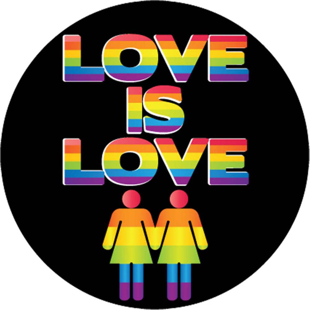 "Kalan Love Is Love 6"" Button - View #1"