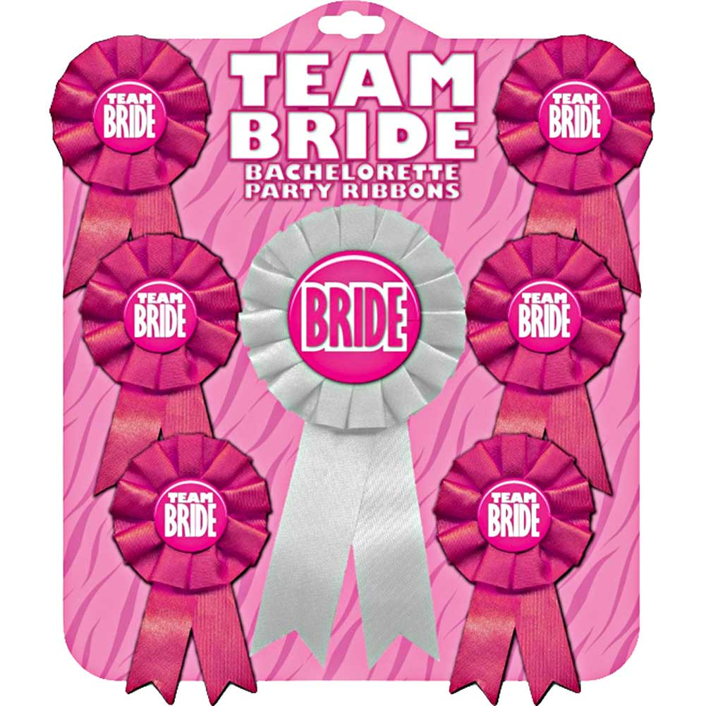 Team Bride Bachelorette Ribbon Set - View #1