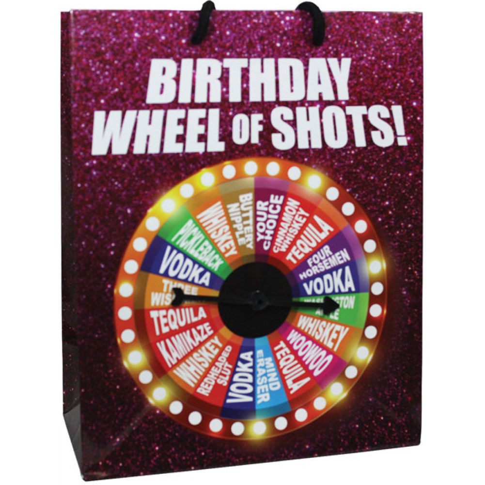 Birthday Wheel of Shots....Spinner Gift Bag - View #1