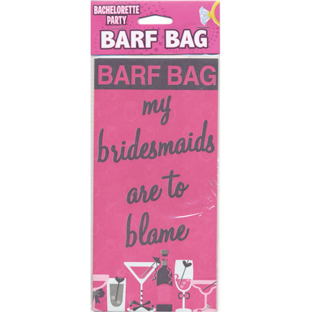 My Bridesmaids Are Too Blame Barf Bag - View #1