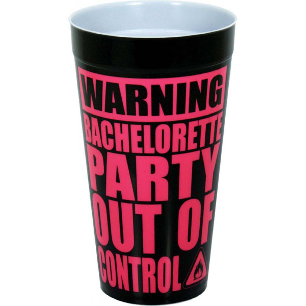 Warning Bachelorette Party Out of Control Drinking Cup - View #1