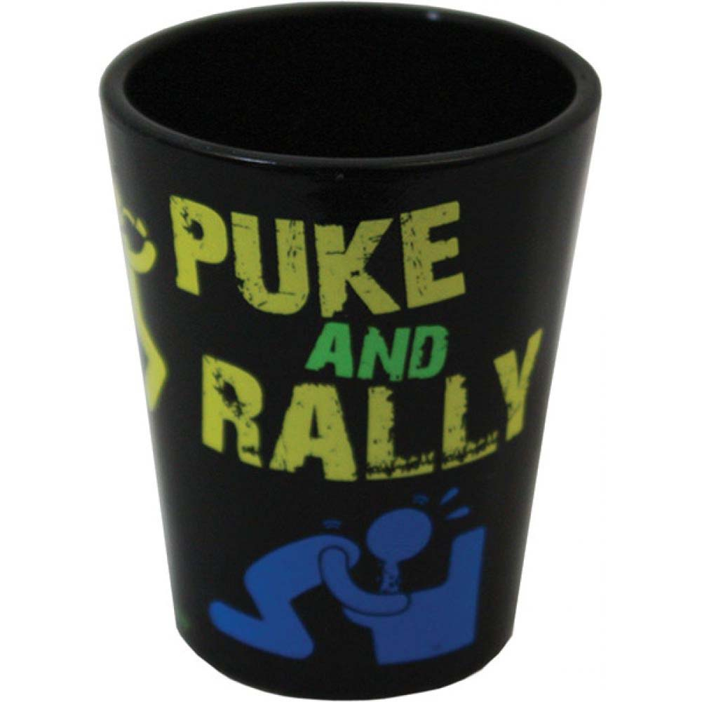 Puke and Rally Shot Glass Black - View #1