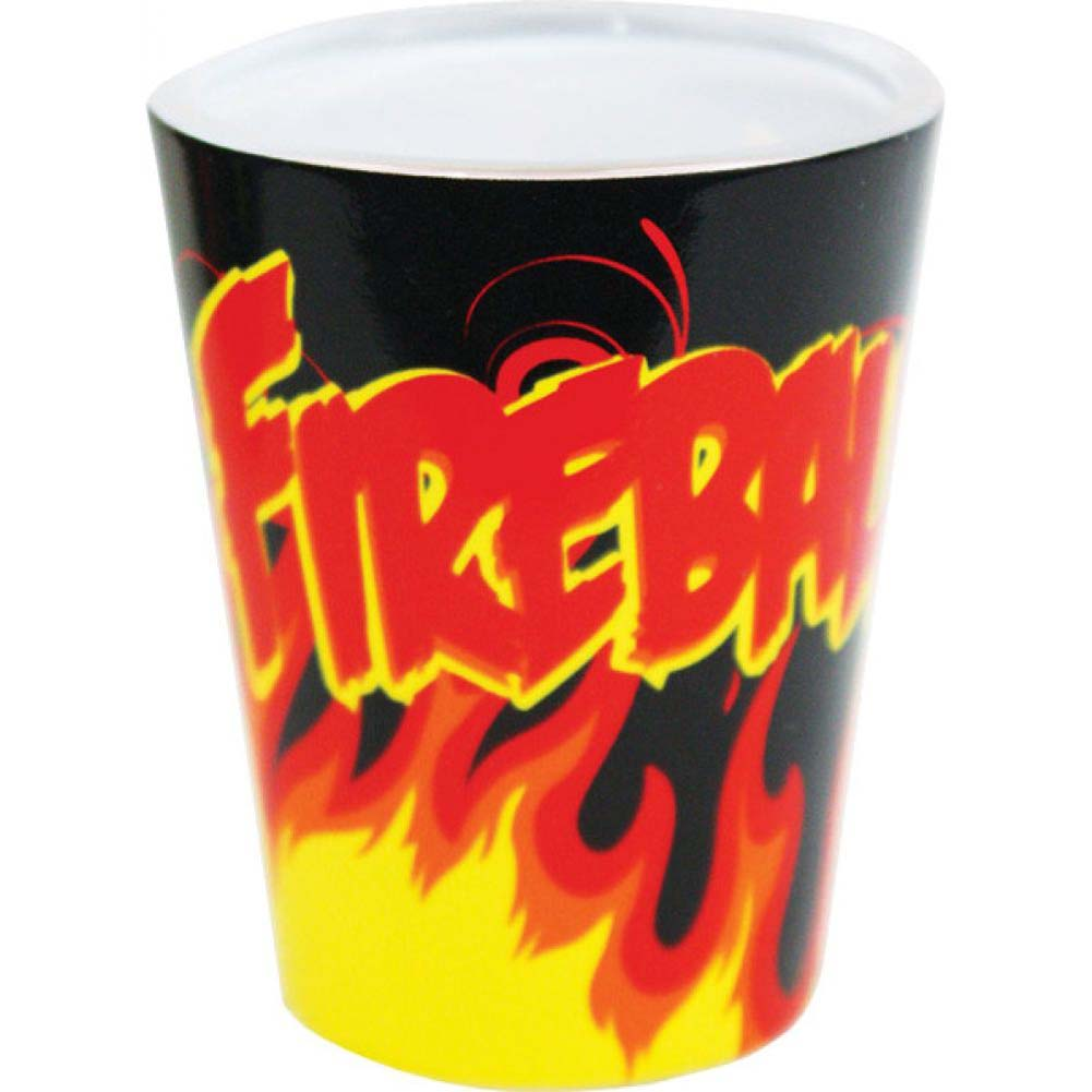 Flaming Fireball Shot Glass by Kalan Black/Red/Yellow - View #1