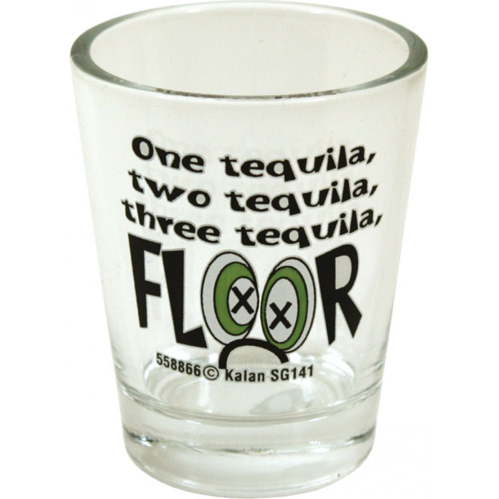 1 Tequilla 2 Tequilla 3 Tequilla Floor Shot Glass - View #1