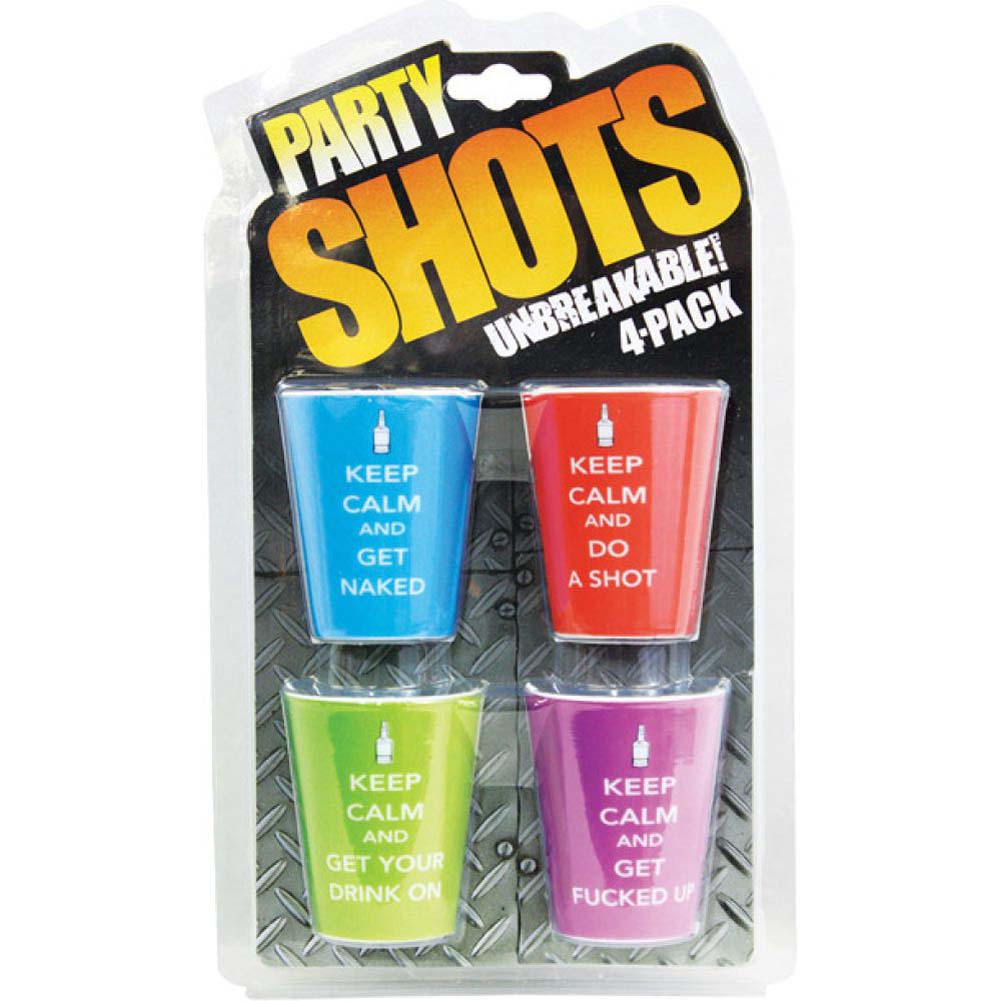 Party Shots Keep Calm Any Occasion Party Assorted Shots 4 Piece Pack - View #1