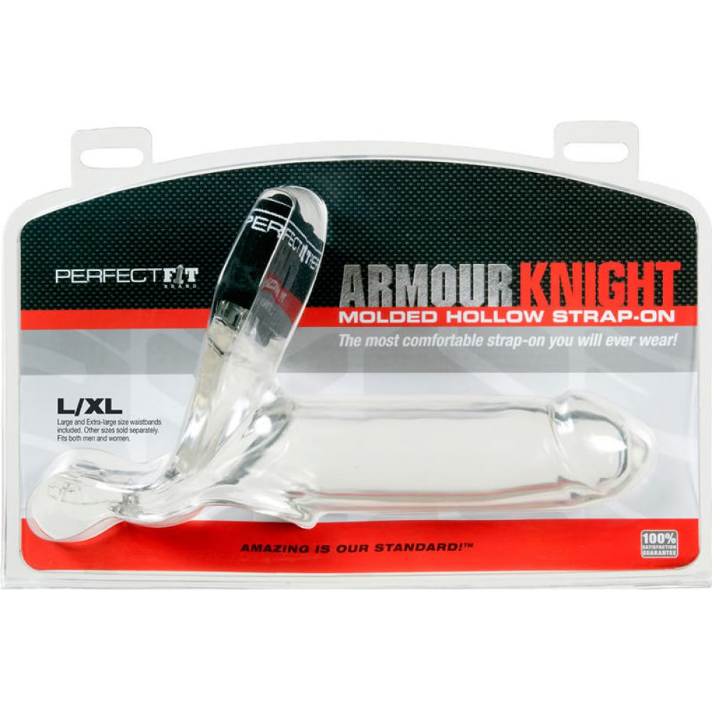 Perfect Fit Armour Knight Extra Large Strap-On with Two Waistbands Large/ EL Clear - View #1