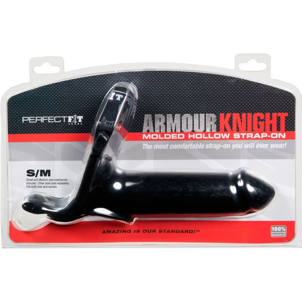Perfect Fit Armour Knight Extra Large Strap-On Two Waistbands Small/ Medium Black - View #1