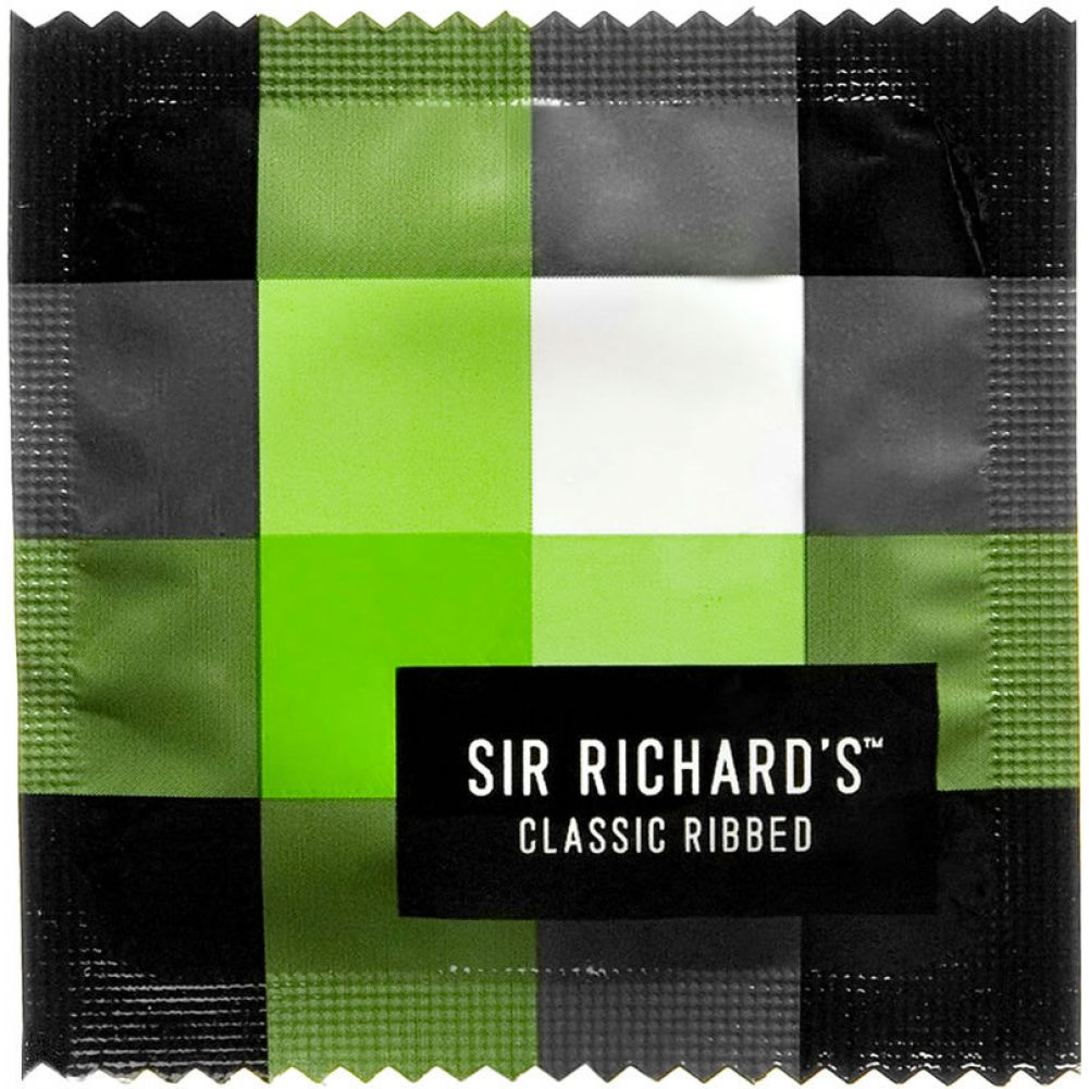 Sir Richards Classic Ribbed Textured Latex Condoms 3 Each Per Pack - View #1