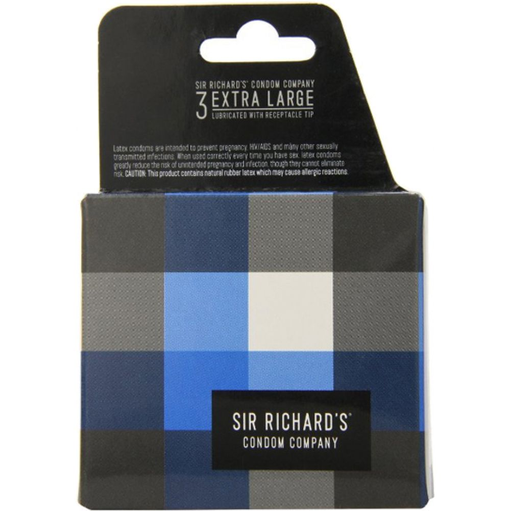 Sir Richards Extra Large Condoms 3 Each Per Pack - View #3