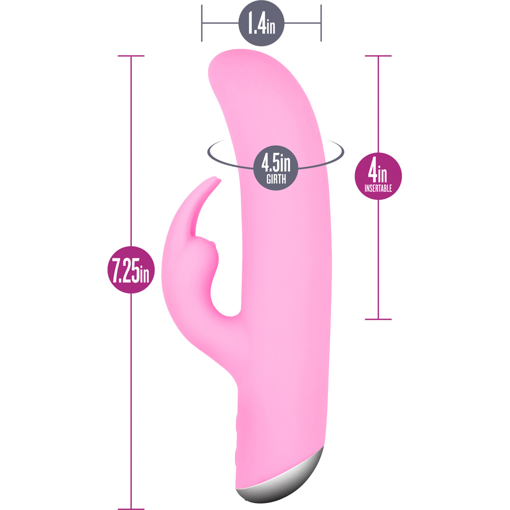 "Blush Vilain Bianca Rabbit Style Female Vibrator 7.5"" Passion Pink - View #1"