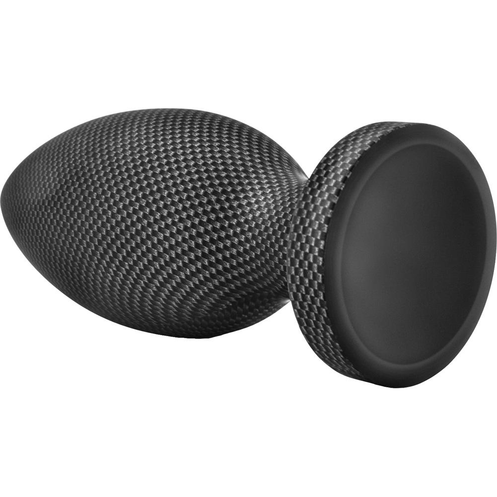 "Blush Spark Silicone Large Butt Plug 6.5"" Carbon Fiber - View #3"