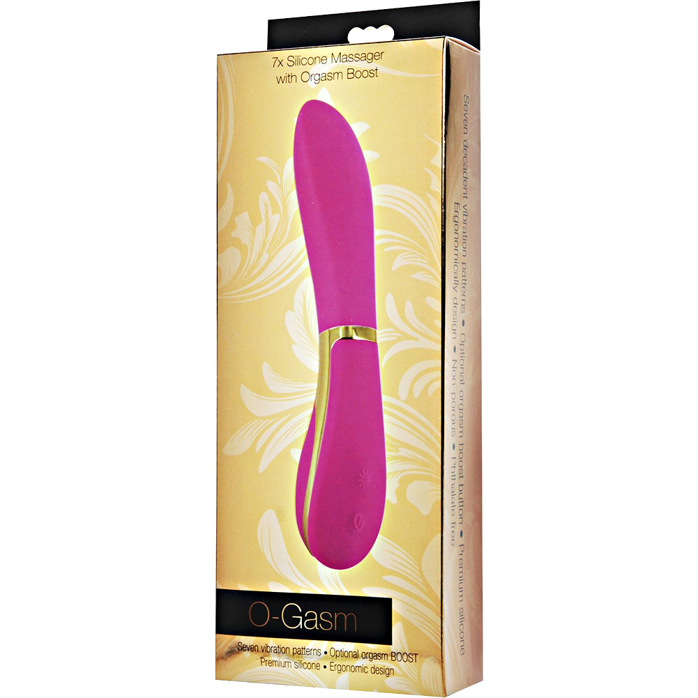 "XR Brands O-Gasm 7 Mode Silicone Massager 7.5"" Pink - View #1"