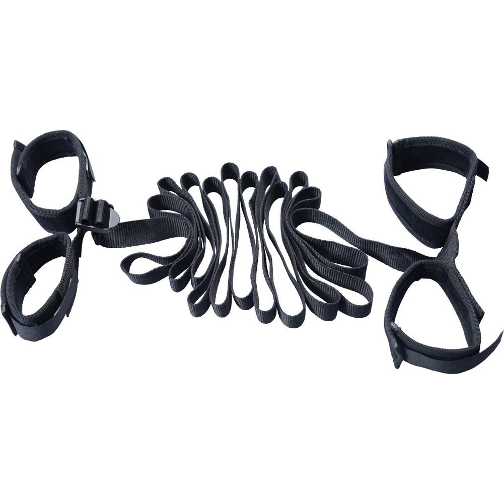 "Master Series Ensnare Stretcher Restraint Set 82"" Black - View #2"