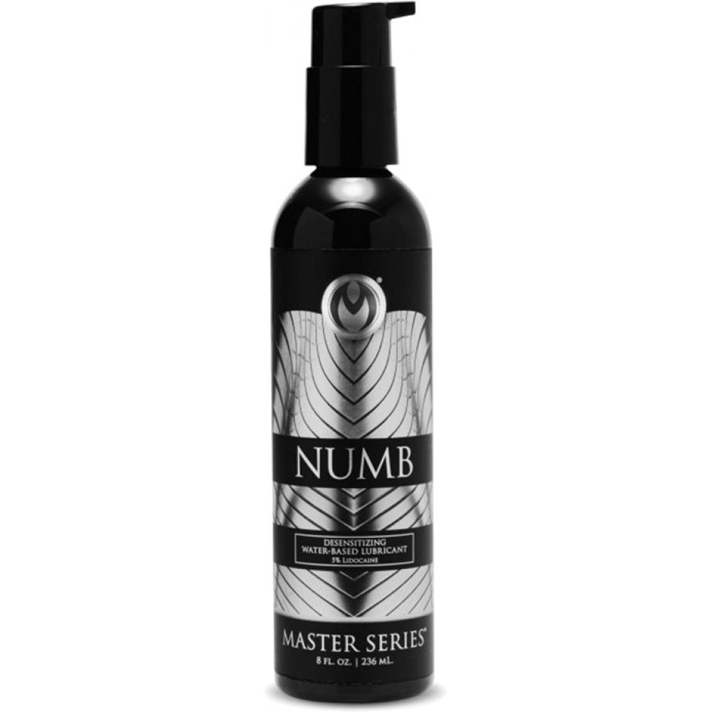 Master Series Numb Desensitizing Water-Based Lubricant 8 Fl.Oz 236 mL - View #1