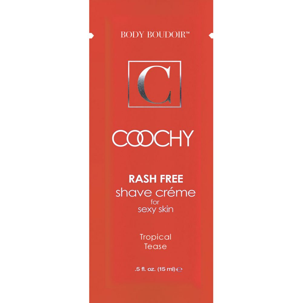 Coochy Shave Creme Tropical 0.5 Fl.Oz 15 mL Foil Display of 24 Packets - View #1