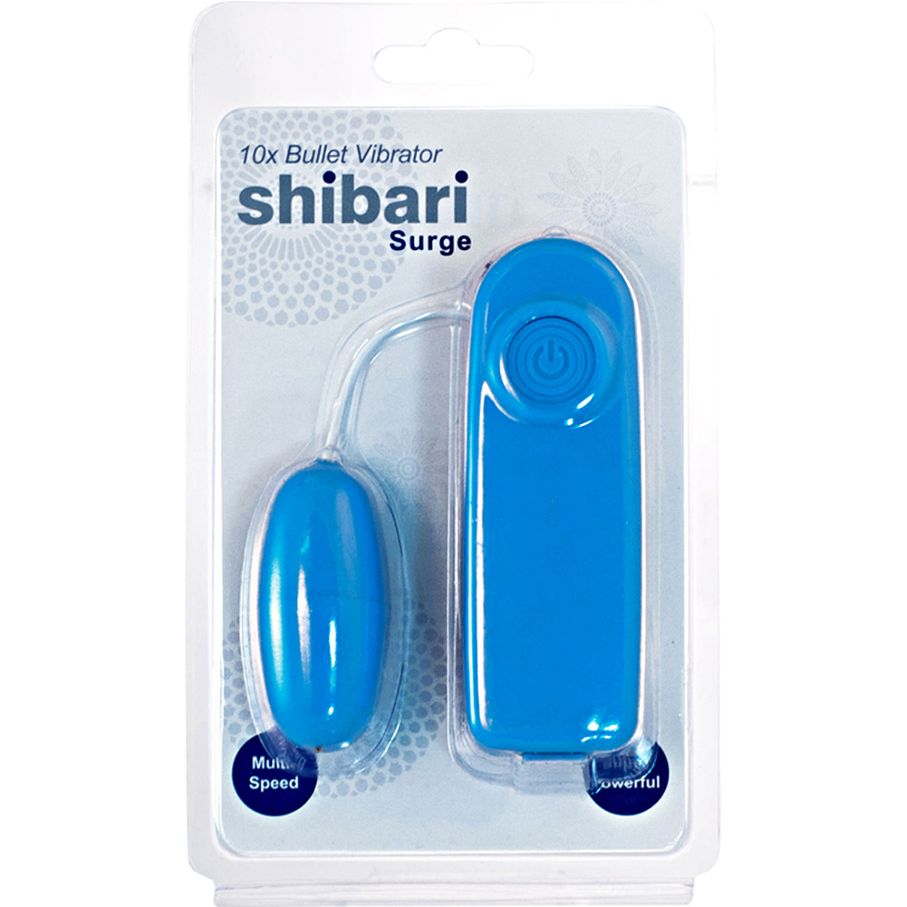 "Shibari Surge 10X Multi Speed Bullet Vibrator 2.25"" Blue - View #1"