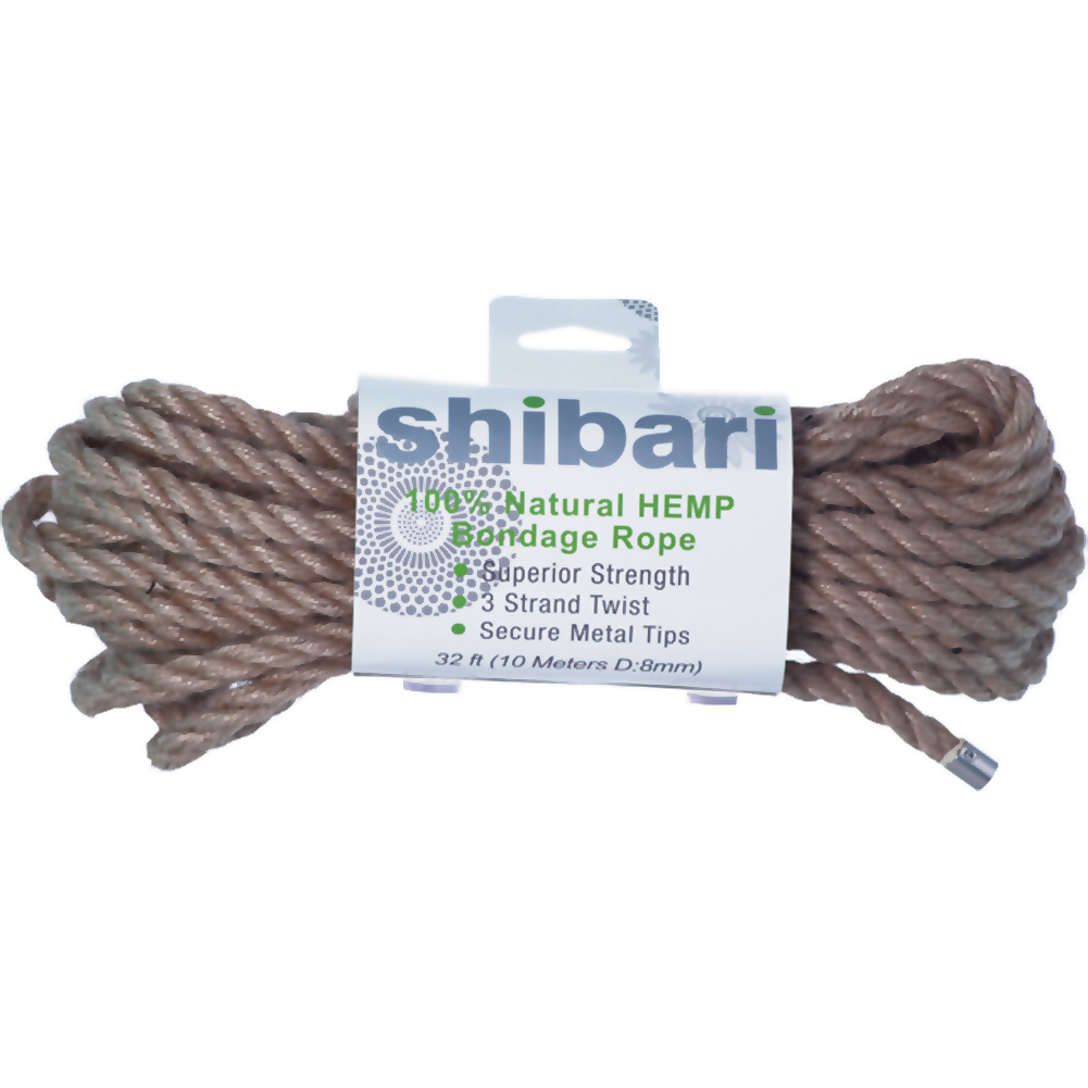 Shibari Natural Hemp Bondage Rope 10 Meters - View #1
