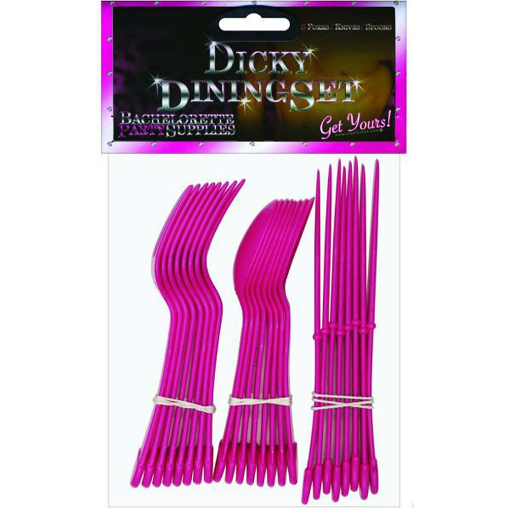 Hustler Dicky Dining Cutlery Set 24 Pieces Hot Pink - View #1